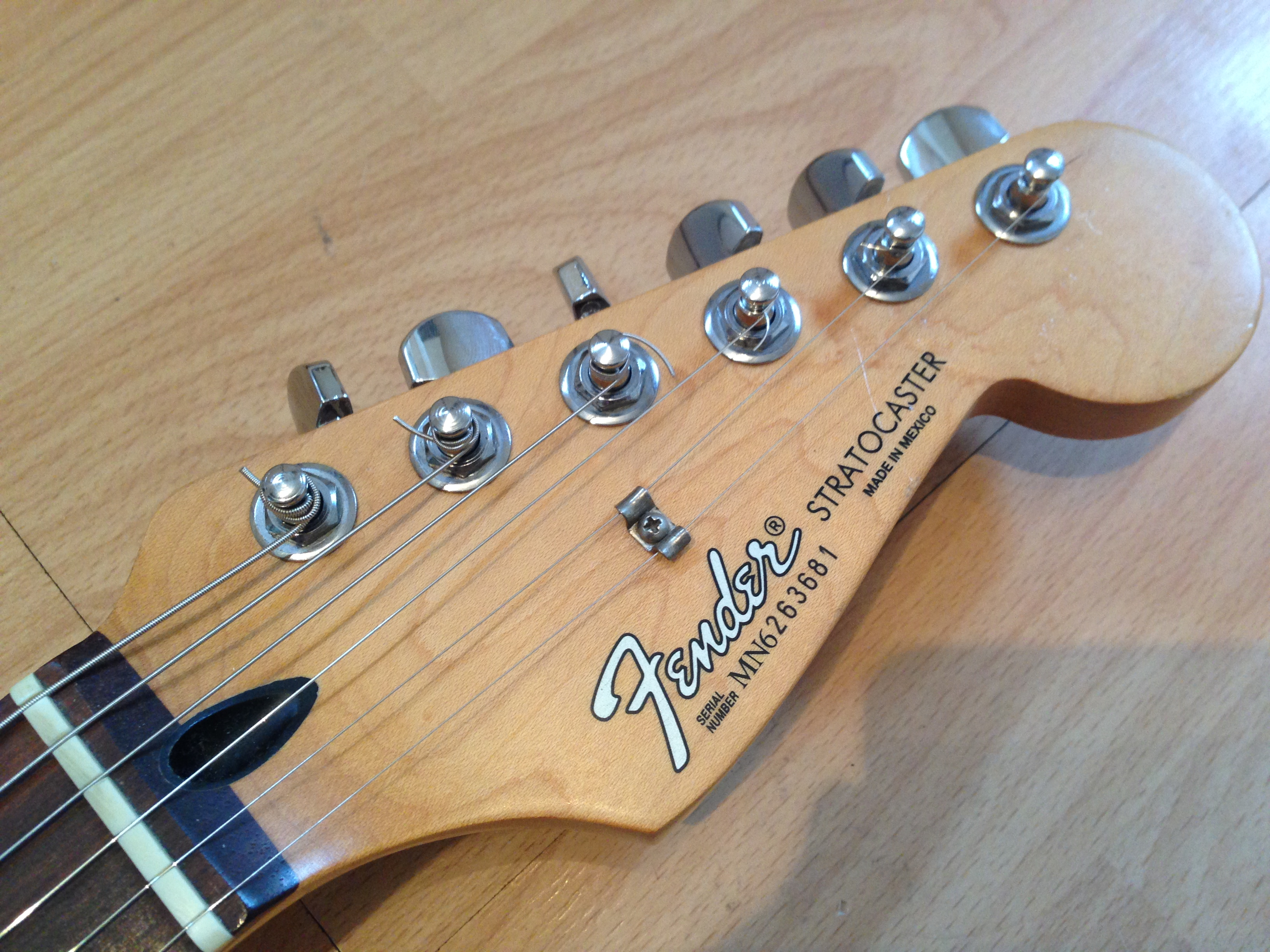 1996 Fender Mexican Std Sunburst Strat